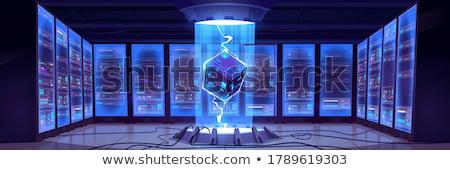 интерьер сервер проводов синий центр обработки данных Сток-фото © wavebreak_media