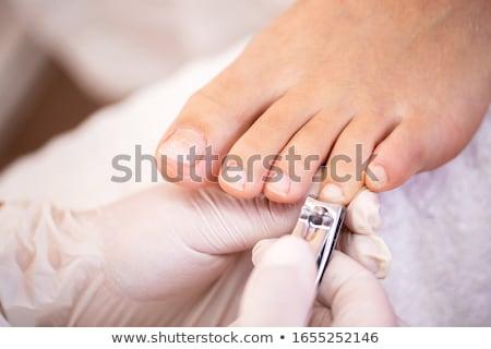 Vásárlók lábujj körmök manikűrös nő szépség Stock fotó © wavebreak_media