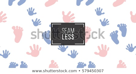 Color hand and foot prints isolated on white Stock photo © tetkoren
