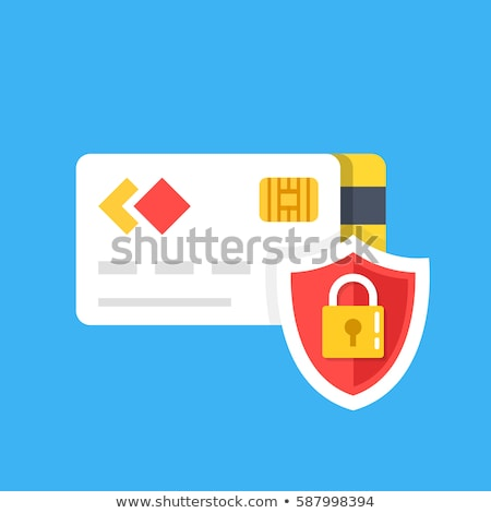 Secure Transaction Red Vector Icon Design Stock photo © rizwanali3d