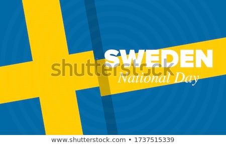 swedish national flag stock photo © kasto