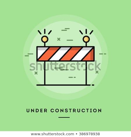 Under Construction Red Vector Icon Design Stock photo © rizwanali3d