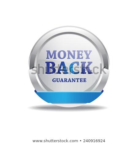 деньги назад гарантировать фиолетовый вектора икона Сток-фото © rizwanali3d