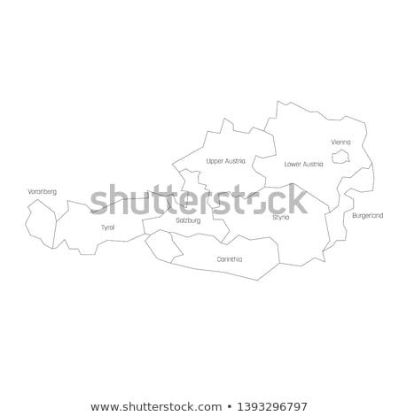 térkép · Ausztria · háttér · izolált · illusztráció - stock fotó © rbiedermann