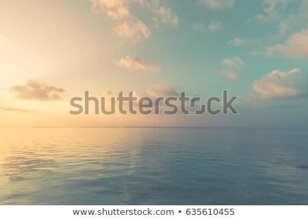 Nyugalmas sziget óceán horizont fa zöld Stock fotó © photohome