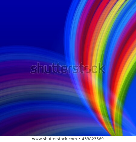 Multicolored Rainbow Lines Fountain Over Blue Stockfoto © marinini