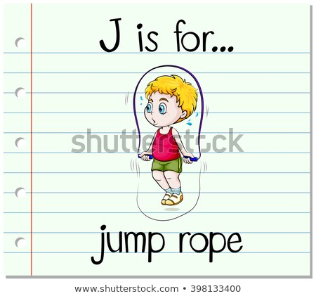 Flashcard letter J is for jump rope Stock photo © bluering