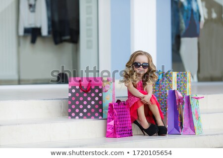 Little girl with shopping bag Stock photo © bluering
