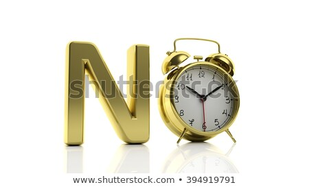 Time To Say No Clock Concept Stock photo © ivelin