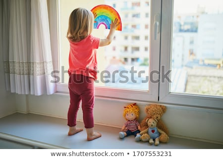 Pequeno menina brinquedo bebê cara juventude Foto stock © ISerg