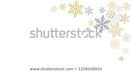 snowflakes in the corners stock photo © swillskill
