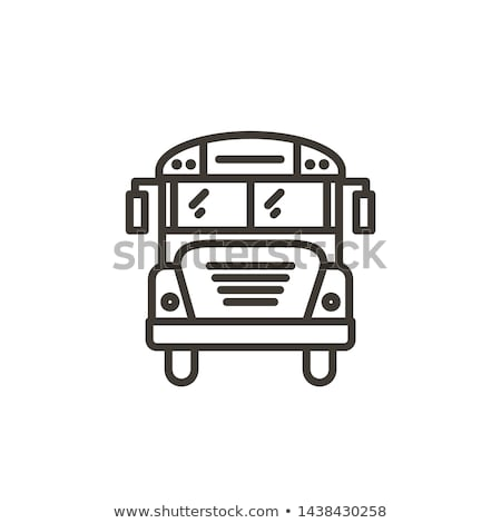 Schoolbus lijn icon vector geïsoleerd witte Stockfoto © RAStudio
