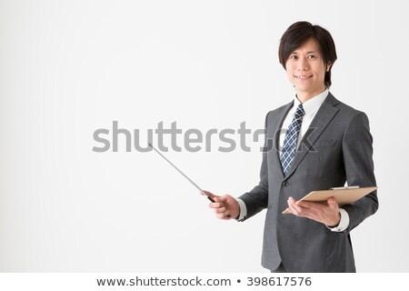アジア ビジネスマン 教師 顔 幸せ 作業 ストックフォト © NikoDzhi