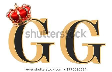 gemstones alphabet letter g isolated on white background stock photo © pashabo