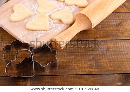 raw cookies on cutting board Stock photo © LightFieldStudios