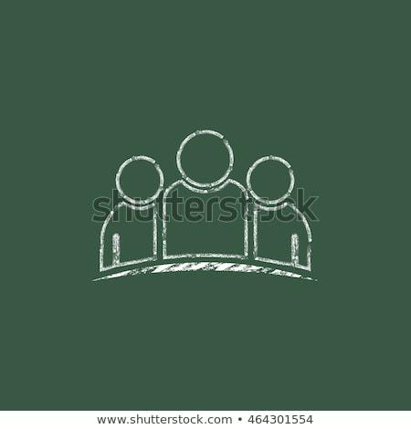рисованной · доске · бизнеса · администрация · рабочих - Сток-фото © tashatuvango