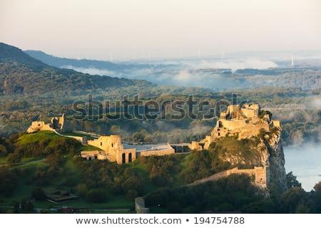 ruins of Devin Castle, Slovakia Stock photo © phbcz