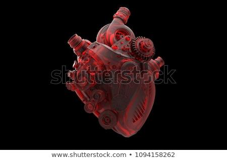 стимпанк сердце Motor Поп-арт ретро технологий Сток-фото © studiostoks