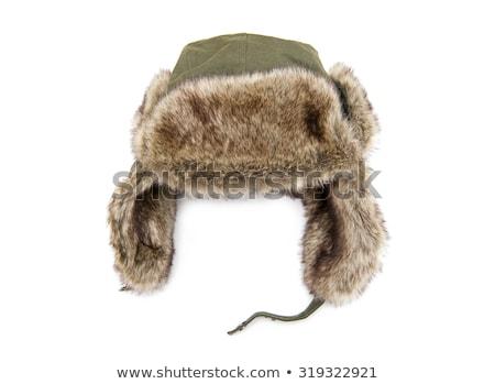 Kid девушки зима Hat вязанье иллюстрация Сток-фото © lenm