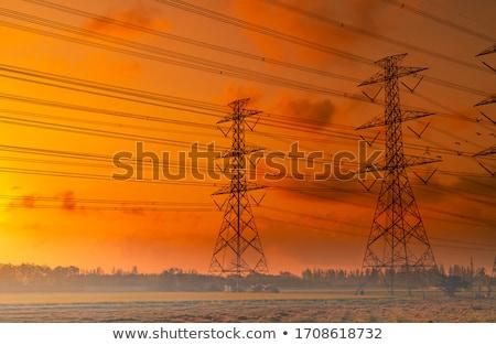 Erő pólus égbolt ipar elektromosság kék ég Stock fotó © IS2