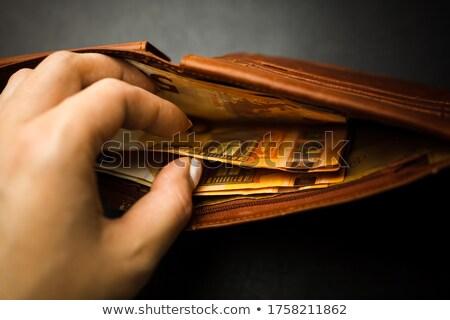 кошелька евро Финансы монеты никто крупным планом Сток-фото © IS2