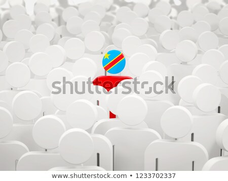 Man with flag of democratic republic of the congo in a crowd Stock photo © MikhailMishchenko