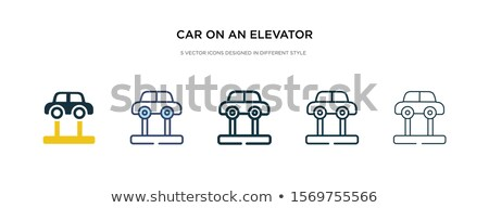 Stock photo: Suspension icon in different style