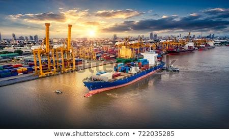 Konténer teherhajó import export üzlet ellátás Stock fotó © FrameAngel