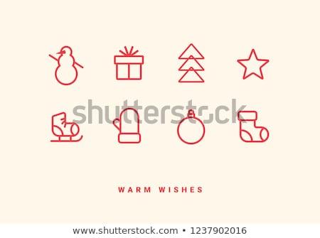 クリスマス グリーティングカード ブーツ クリスマスツリー 装飾 ストックフォト © Melnyk