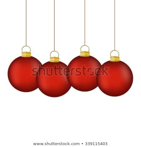 Alegre natal ilustração ouro vidro bola Foto stock © articular