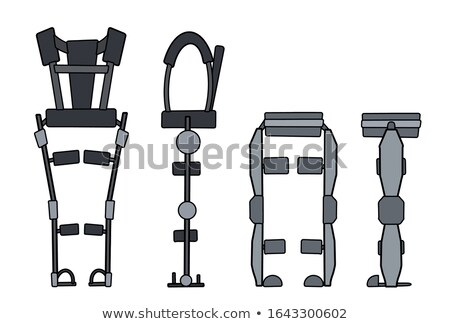 Crutch isolated. Apparatus for health. Medical device. Vector il Stock photo © MaryValery