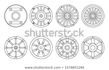vetor · carro · roda · disco · freio · isolado - foto stock © robuart