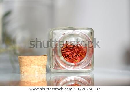 Zafferano Spice isolato bianco cottura indian Foto d'archivio © karandaev