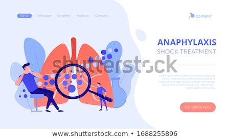 Anaphylaxis concept landing page. Stock photo © RAStudio