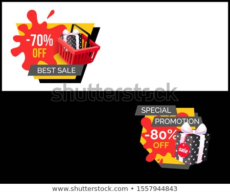 Vendita 80 cento shopping info Foto d'archivio © robuart