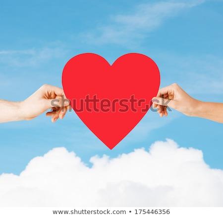 ストックフォト: 愛 · 男 · 女性 · ビッグ · 赤