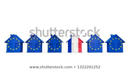 Casa bandera Francia ue banderas Foto stock © MikhailMishchenko
