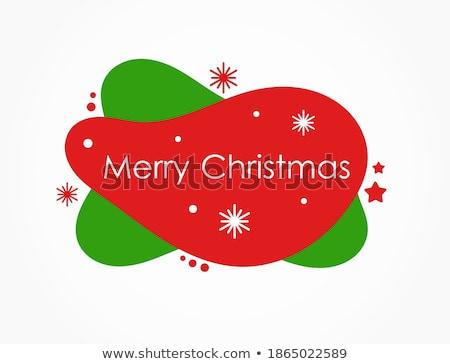 Merry Christmas Banner Red Blobs Stock photo © adamson