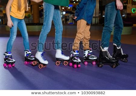 skate · schaatsen · schoen · kalk · eps · achtergrond - stockfoto © smoki