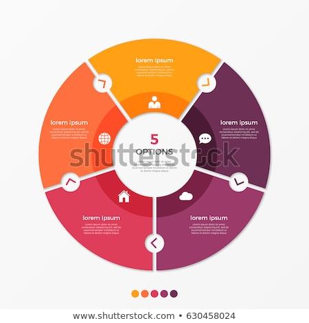 Five circles diagram template Stock photo © orson