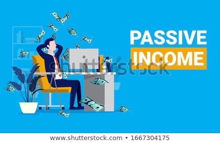 Passzív jövedelem tőzsde befektetés online távoli Stock fotó © RAStudio