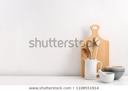 Rustic ceramic utensils Stock photo © netkov1