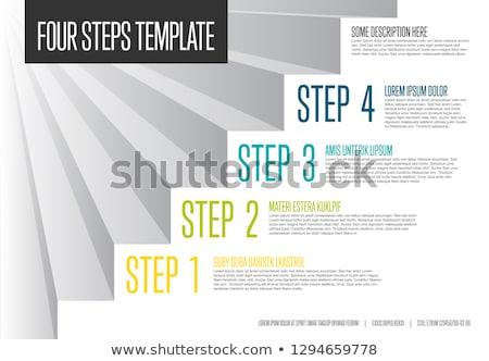 Stock fotó: Lépcső · diagram · sablon · munkafolyamat · üzlet · séma