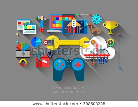 Computer games development concept vector illustration Stock photo © RAStudio