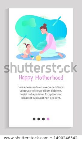 Kriechen Baby Spielzeug Mutterschaft Vektor glücklich Stock foto © robuart
