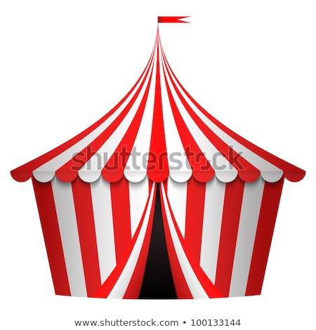 красный белый цирка палатки иллюстрация фон Сток-фото © bluering