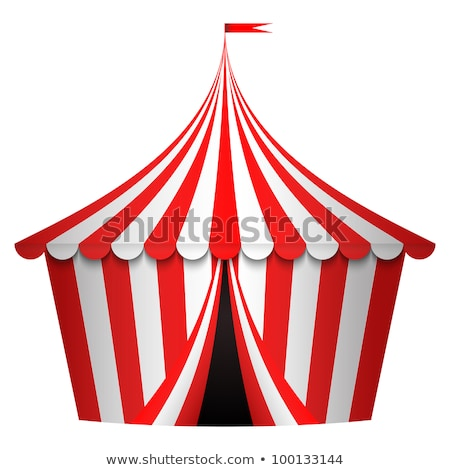 Rood witte circus tent illustratie achtergrond Stockfoto © bluering