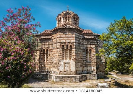 Foto stock: Antigo · Atenas · Grécia · igreja