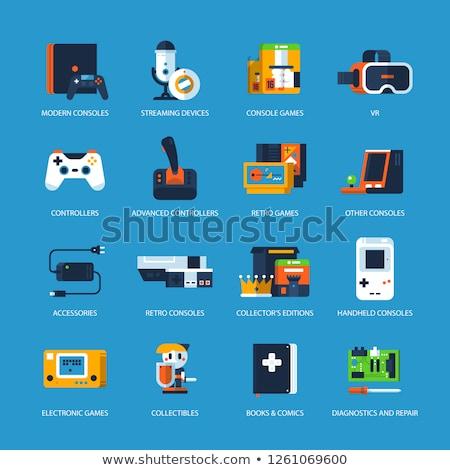 Videospiel Joystick trösten Laden Vorlage Vektor Stock foto © vector1st