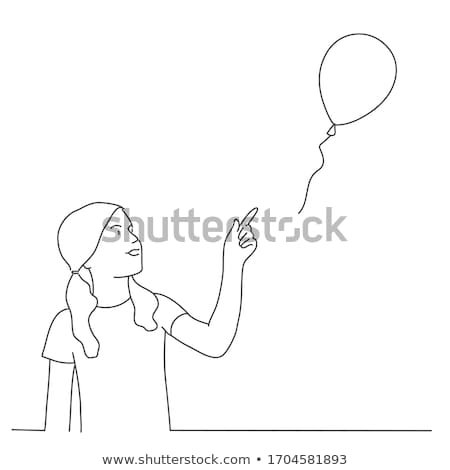 girl with balloon in hands isolated child toy stock photo © robuart